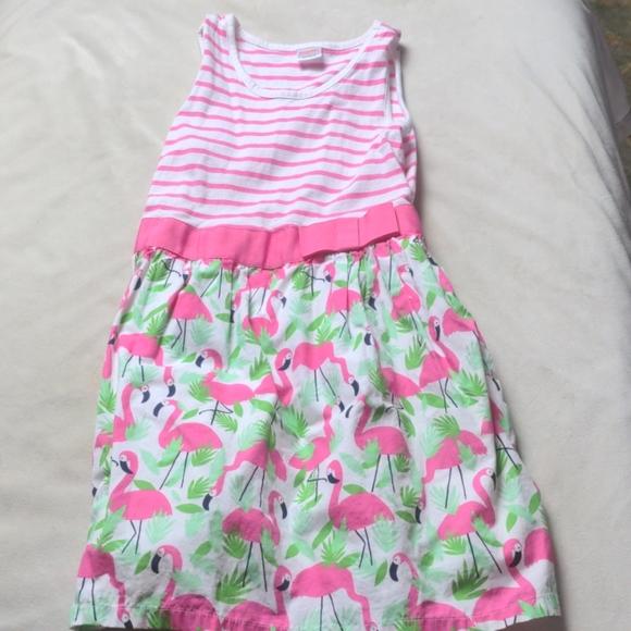 Gymboree girls flamingo dress, size 7.